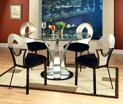 round dining room set for 4 glass top table sets extending bedroom furniture design and chairs