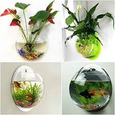 decoration bubble wall fish tank house home decorations mirror acrylic aquarium bowl for 6 from