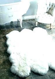 white faux fur area rug white fur rug white faux fur area rug faux fur