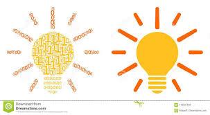 Binary Light Bulbs Light Bulb Collage Of Binary Digits Stock Vector