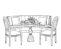 dining room table clipart black and white. Dining Table Clipart Black And White Furniture In The Cafe Dinner Hand Drawn Chair Room E
