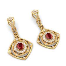 red and gold chandelier earrings kreeli davina gold yellow oval 1 garnet red 2 diamond 3 ideas