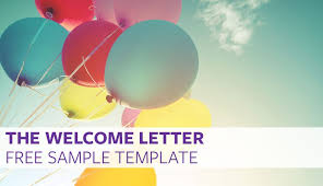 Sample Welcome Letter Impressive The Welcome Letter Free Sample Template Proven