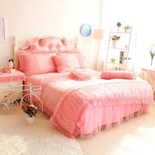 pink bed skirt queen luxury pink lace ruffle bedding set queen king cotton princess wed home light pink queen size bed skirt