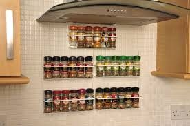 Kitchen Furniture Accessories Cool Magnetic Spice Rack Small Hexagon Jars Wall Mounted Spice