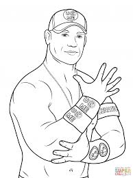 Coloring Pages Wwe Printablering Pages John Cena Page Free For