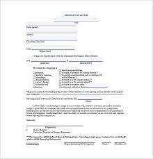 School Teachers Resignation Letter Format Free PDF Format