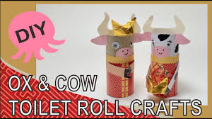 Fun to paint and assemble, this kids craft is good to display for chinese new year. Diy Year Of The Ox Crafts Cny Decorations Toilet Roll Crafts Youtube