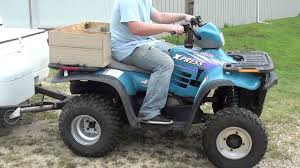 polaris 400 express 2 stroke utility quad fully automatic