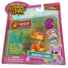 Animal Jam Toys Light Up Ring Sparkle Tiger Figure W Light Up Ring Ring 6326935146204