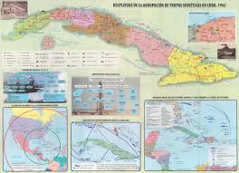 maps and charts prepared by cuban historians for the 55th anniversary of the missile crisis showing deployments of soviet forces missiles and troops