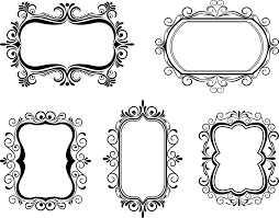 Free Vector Art Fancy Vintage Borders Oh So Nifty Graphics Clipart