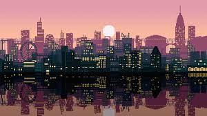 Pixel Art City [2560x1440][OC ...