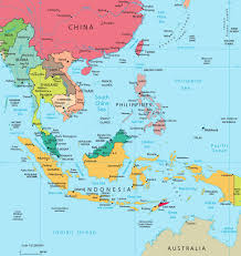 map of southeast asia  indonesia malaysia thailand