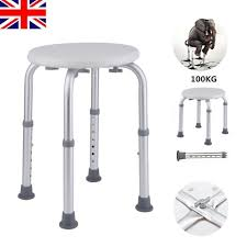 adjule disabled bath stool shower chair seat mobility diity aid bathing