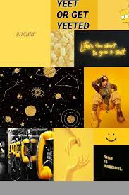 Dark Yellow Aesthetic Background (Page ...