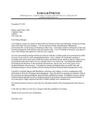 cover letter of sales and marketing marketing manager cover letters