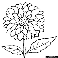 Flower Coloring Pages Color Flowers Online Page 1