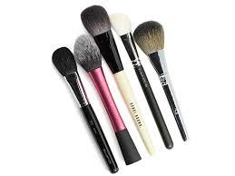 my most used blush brushes l r shu uemura 20 brush real techniques blush