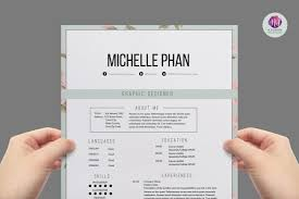 floral elegant resume template cover letter template 128270zoom