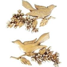 hanging birds decor bird wall hanging wall decor on intended for elegant household gold birds