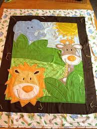 Safari Friends Baby Quilt with Fleece by artisticsouldesigns. How ... & Safari Friends Baby Quilt with Fleece by artisticsouldesigns. How adorable  is this!? # Adamdwight.com