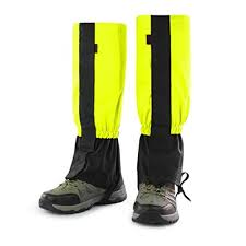 windproof snow leg gaiters nylon lightweight durable wraps leg boot covers for climbing hunting outdoors sports 1 pair yellow garden outdoor