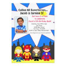 Personalized Superhero Birthday Invitations Superhero Birthday Invitations Zazzle