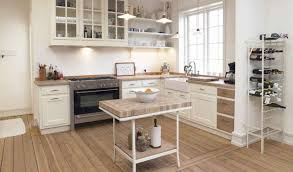 white country kitchen with butcher block. Full Size Of Countertops \u0026 Backsplash: Simple Small Country Kitchen Decor With All White Interior Butcher Block