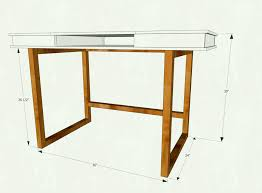 ana white modern x desk base for build your own study plans diy projects easy dimensions