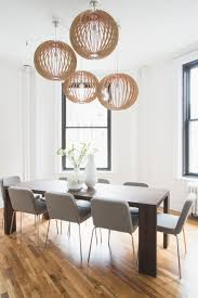 white conference room with orb lights