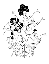 Small Picture Hercules The Muses Coloring Page Disney LOL