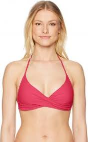 Red Carter Womens Splice And Dice Seperates Bathing Swim