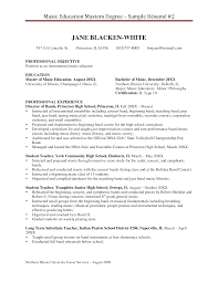 Resume Templates For Masters Program