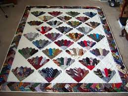 Fan quilt made from men's ties (posted to Quilting Board by ... & Fan quilt made from men's ties (posted to Quilting Board by lovetoquilt) Adamdwight.com