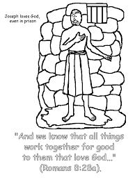 Small Picture Joseph in Prison Coloring Page