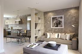 Break up a large room with furniture to create different spaces and  creative interior designs.