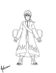 Small Picture Naruto with Cool Fire Robe Coloring Page Download Print Online