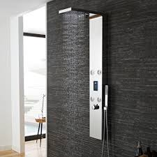 hudson reed genie led chrome thermostatic dream shower panel as361