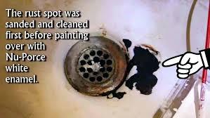 fix bathtub drain repair rusted bathtub drain photo 3 of 6 fix bathtub rust spot with fix bathtub drain