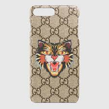 gucci iphone 7 case. angry cat print iphone 7 plus case gucci iphone i