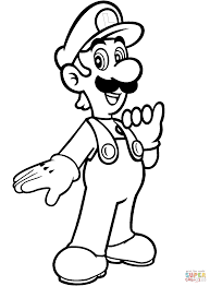 mario bros coloring pages. Beautiful Bros Luigi From Mario Bros For Bros Coloring Pages R