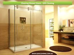 how to clean hard water stains on glass shower doors home and furniture best glass shower