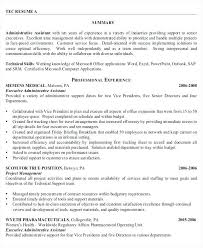 Resume Sample For Administrative Position Senior Administrative