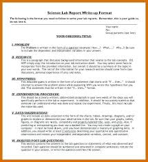 Science Report Example Lab Write Up Experiment Format Engineering 7