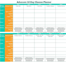 Advocare Cleanse Chart Advocare 10 Day Cleanse Printable Planner Www Advocare Com