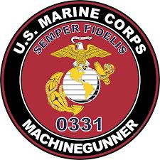 Usmc 0331 U S M C Mos 0331 Machinegunner Decal