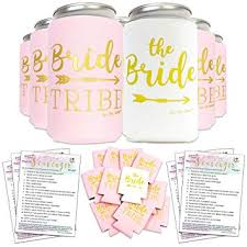 bachelorette party decorations bride to be favors can cooler sleeves 11pcs bonus fun photo game
