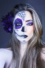 ideas costume candy skull costume skull candy makeup half skull makeup