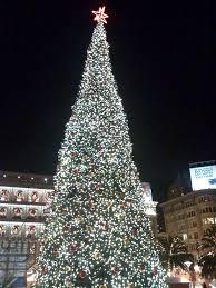 555 California Tree Lighting U0026 All Star Culinary Kickoff  SF Christmas Tree In San Francisco